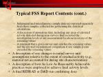 typical fss report contents cont1