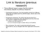 link to literature previous research