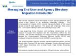 messaging end user and agency directory migration introduction