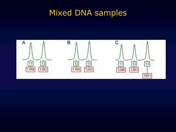 Mixed DNA samples