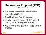 request for proposal rfp continued1