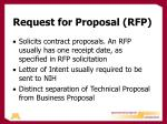 request for proposal rfp