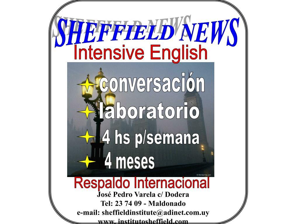 SHEFFIELD NEWS