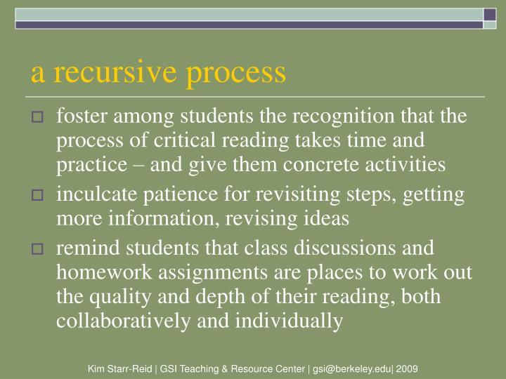 a recursive process