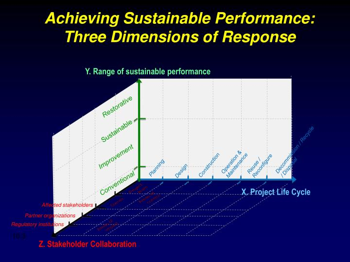 Achieving sustainable performance three dimensions of response