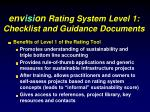 env isi on rating system level 1 checklist and guidance documents
