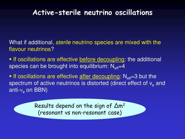 Active-sterile neutrino oscillations