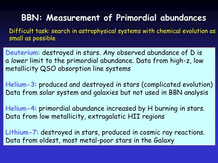 BBN: Measurement of Primordial abundances