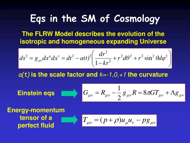 Eqs in the SM of Cosmology