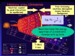 neutrinos coupled by weak interactions in equilibrium1
