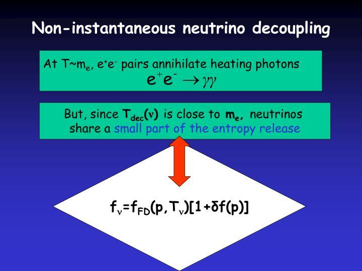 Non-instantaneous neutrino decoupling
