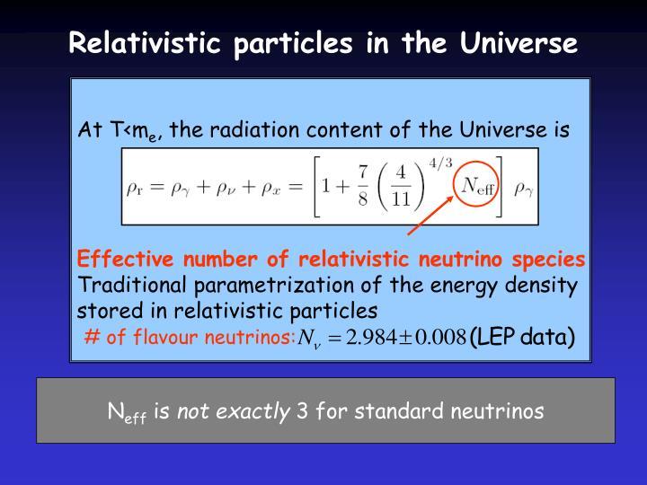 # of flavour neutrinos: