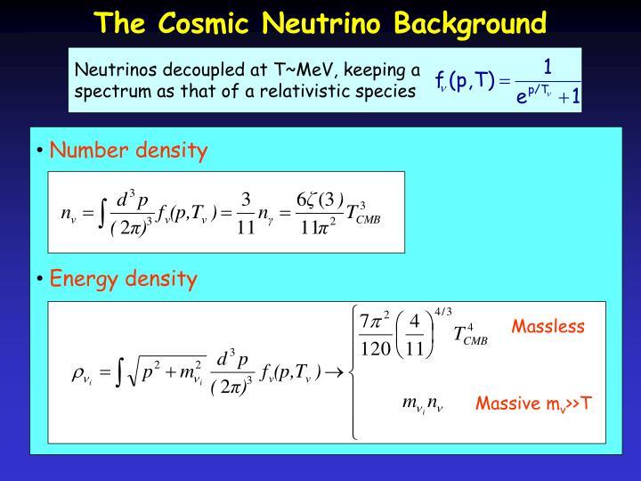 Neutrinos decoupled at T~MeV, keeping a