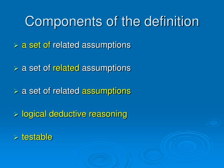 Components of the definition