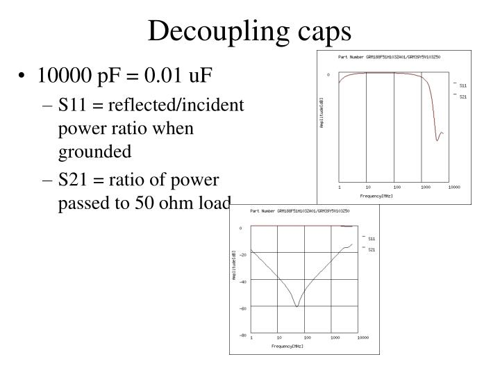 Decoupling caps