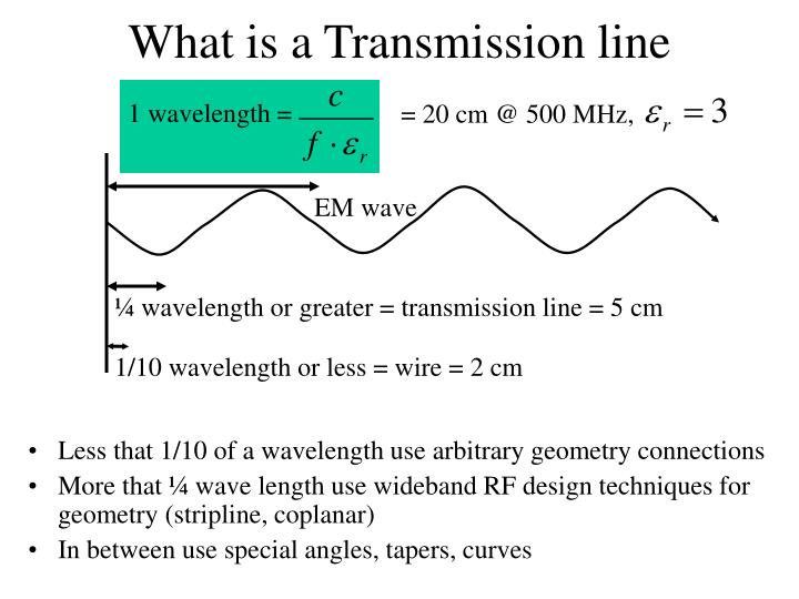 What is a Transmission line