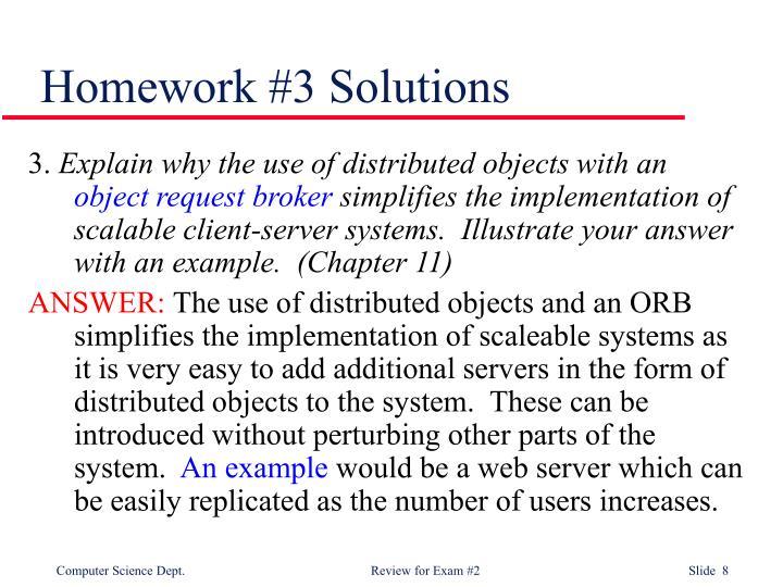 Homework #3 Solutions