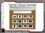 carrier group concept1
