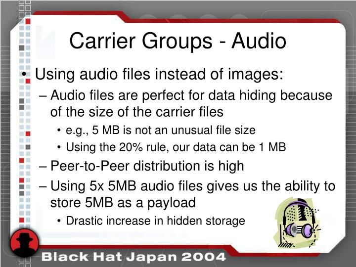 Carrier Groups - Audio