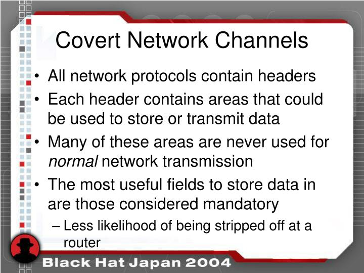 Covert Network Channels