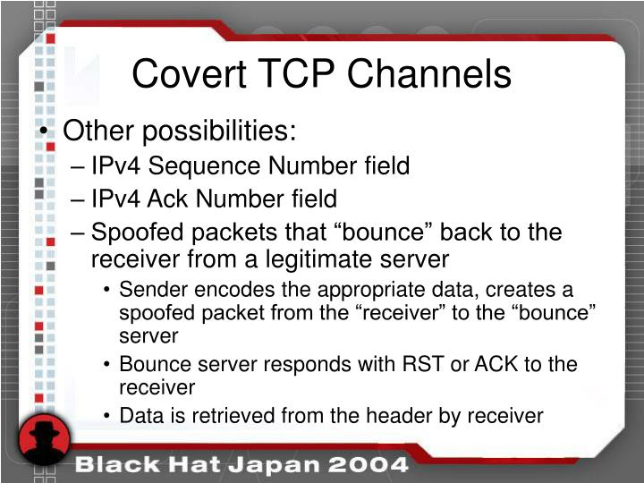 Covert TCP Channels