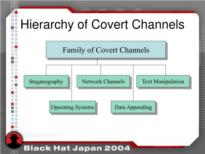 Hierarchy of Covert Channels