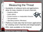 measuring the threat