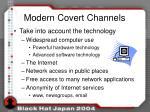 modern covert channels