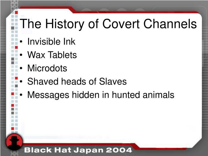The History of Covert Channels