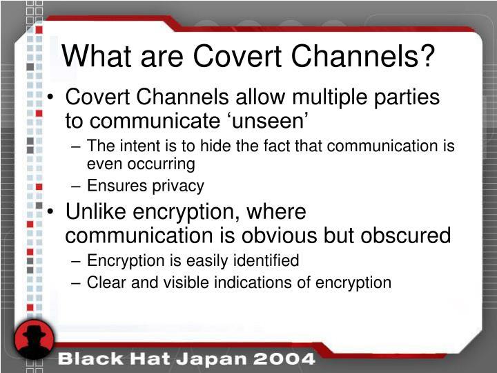What are Covert Channels?