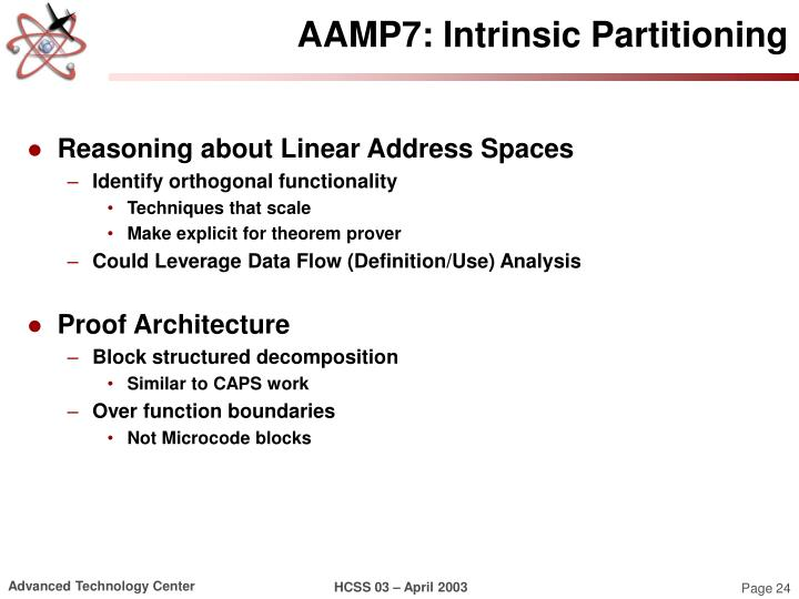 AAMP7: Intrinsic Partitioning