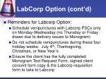 labcorp option cont d