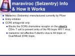 maraviroc selzentry info how it works