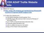 vdh adap trofile website info
