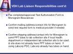 vdh lab liaison responsibilities cont d1