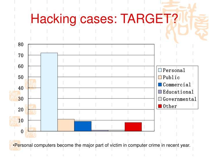 Hacking cases: TARGET?
