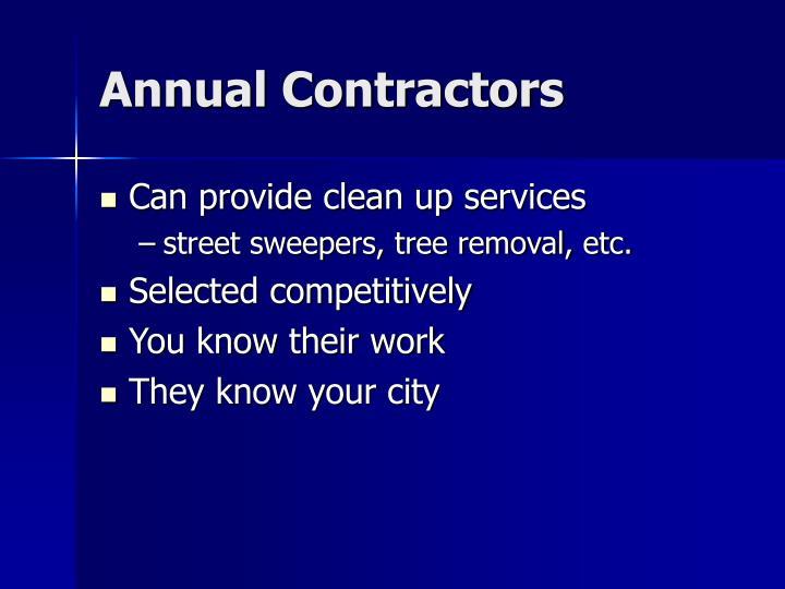 Annual Contractors