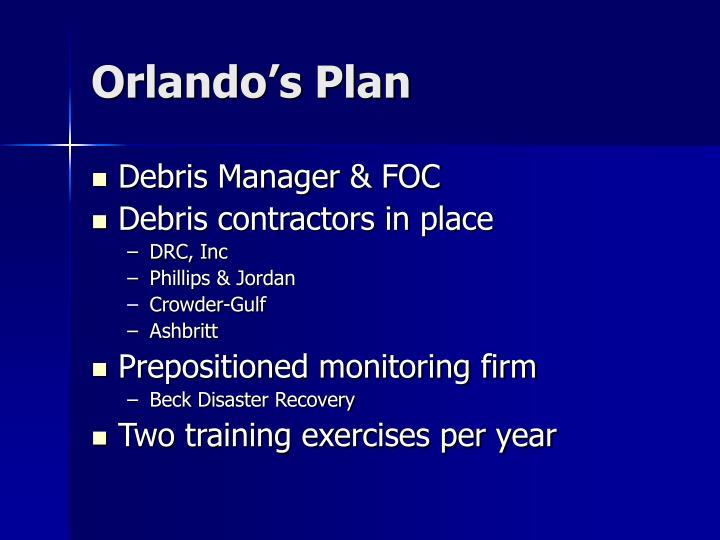 Orlando's Plan