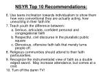 nsyr top 10 recommendations1