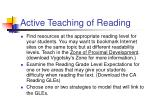 active teaching of reading