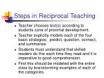 steps in reciprocal teaching