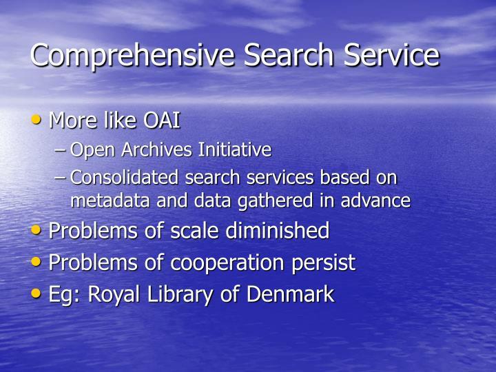 Comprehensive Search Service