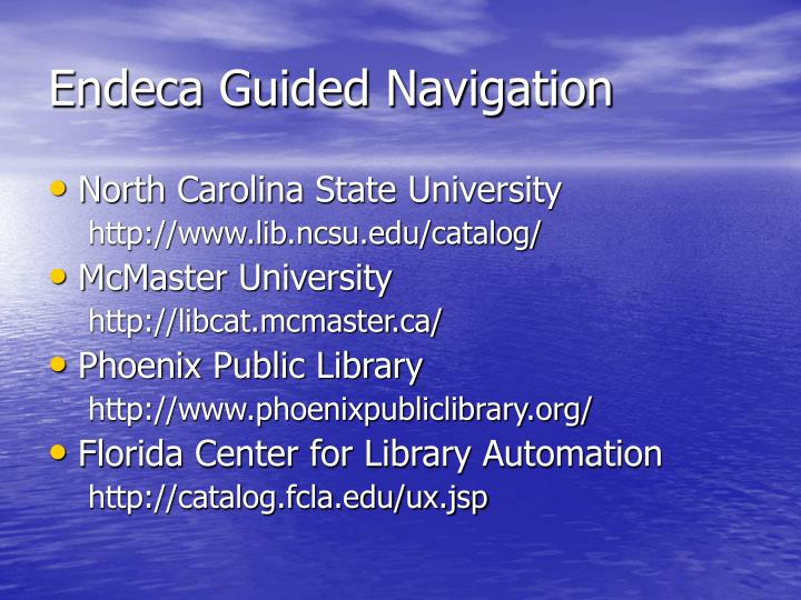Endeca Guided Navigation