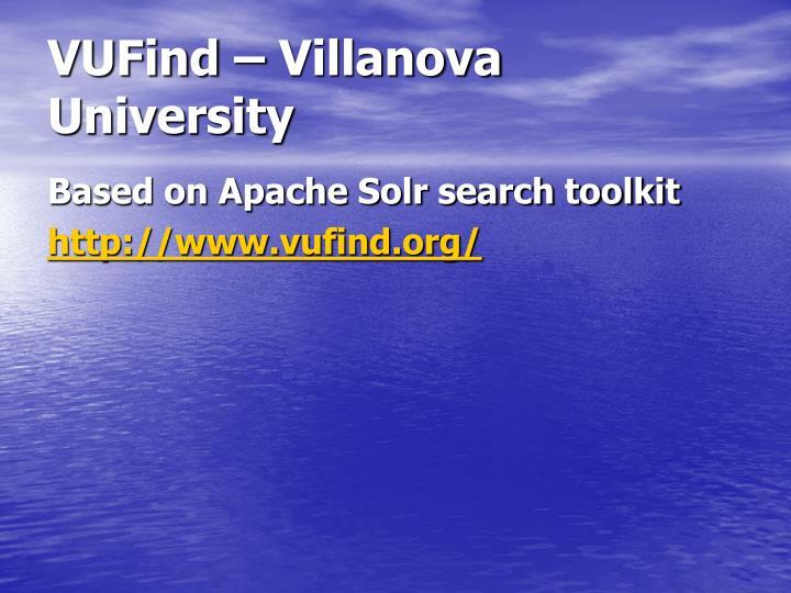 VUFind – Villanova University