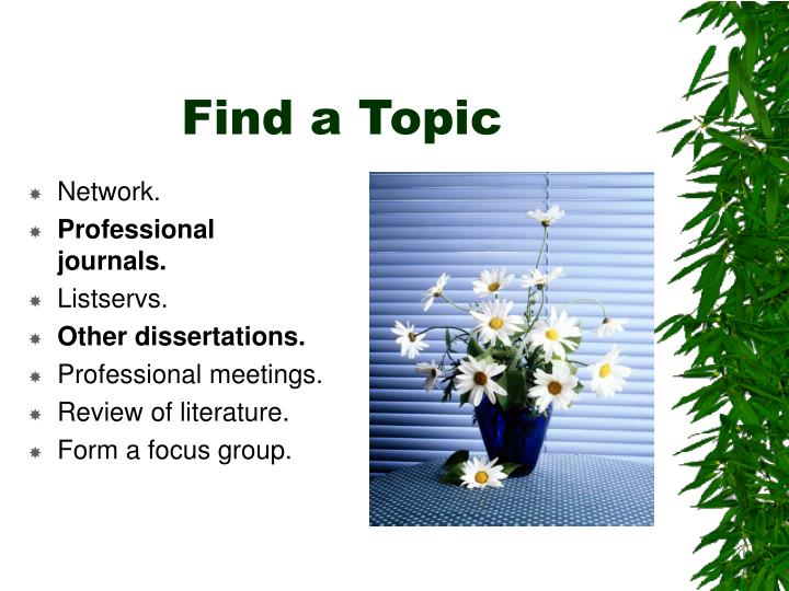 Find a Topic