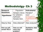 methodololgy ch 3