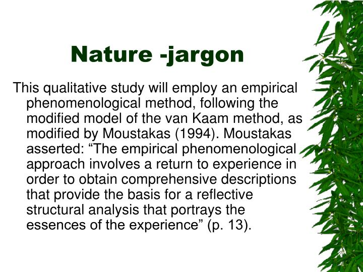 Nature -jargon