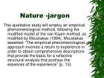 nature jargon