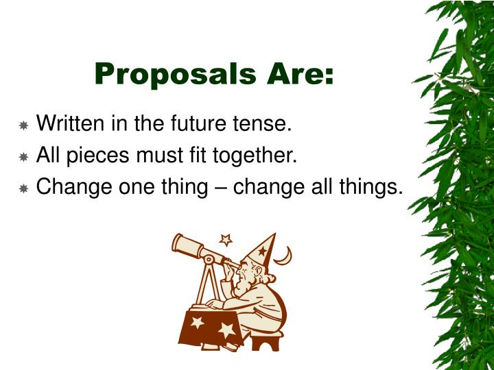 Proposals Are:
