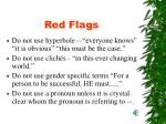 red flags